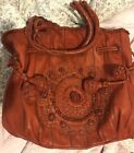 LOCKHEART 3D Embroidered FLOWERS Stitch Ornate Autumn Fall  HIPPIE Shoulder Bag