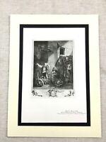 1934 Vintage Francese Stampa Rosa Et Colas Opera Scena Baudouin Pittura Art