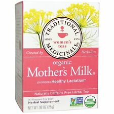 Traditional Medicinals, Organic Mother's Milk, Caffeine Free, 16 Wrapped Tea Bag