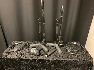 Drum Mic Set Up (2 mics, 2 cords & 2 stands) (AKG, Shure, Samson)