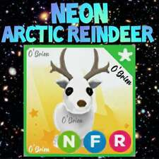 ❄️ (NFR) NEON ARCTIC REINDEER ❄️ with Fly Ride. Adopt Me. Roblox.