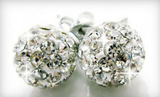 Lot of 5 New 8mm Swarovsky Element Crystal Disco Ball Sterling Silver Earrings