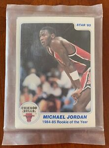 1985 Star Michael Jordan 84-85 Rookie Of The Year RC Factory Sealed 11 Card Set