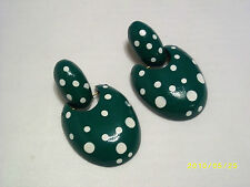 No Bead/Stone Earring Vintage Costume Jewellery (1980s)