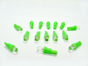 15 BRIGHT Green Mopar Wedge Instrument Panel Cluster Dashboard Lights Bulbs LEDs