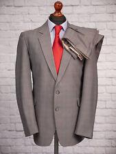 Vintage Men's Suit 44R 36W 29L Single Breasted Grey Check Men's Foster Menswear