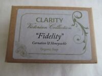 CLARITY Victorian Collection FIDELITY Organic Soap 100g Carnation & Honeysuckle