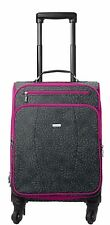 Baggallini Getaway Roller/Travel Bag/Carry-On Luggage in Pewter Floral (SALE!)