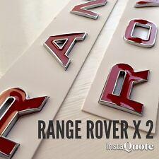 3D Rosso & Cromo Cofano Baule Lettere Stemma per Range Rover Sport 2005 - 2009