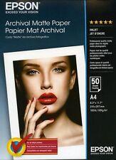 Papier Epson Archival Matte Paper A4 50 feuilles 189g S041342