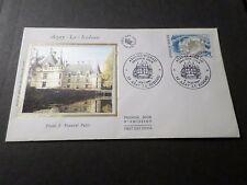 FRANCE 1987, FDC 1° JOUR TOURISTIQUE, CHATEAU D AZAY LE RIDEAU, CASTLE