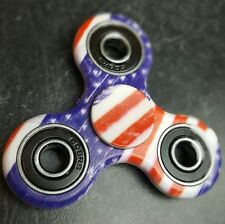 HAND SPINNER TRI FIDGET CERAMIC BALL American Flag/Camouflage Red White and Blue