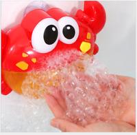 Automatic Bubble Maker Blower Tub Crab Bubble Bath Toys Machine Music Gift
