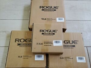 Rogue Olympic Weight Plates, Pairs of CAST IRON Olympic Weight Plates. Ships Now