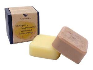 Shampoo & Conditioner DUO, Vanilla and Sweet Orange Essential Oil, 60g/40g