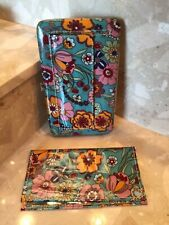 NEW - (1) Multicolor Floral Women's / Girls Flat Wallet / Checkbook cover