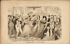 george  cruikshank print 1840 : febuary - first rout