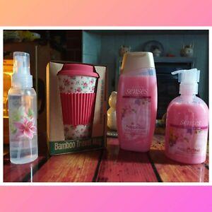 Adults La Petite Rose Bamboo Travel Mug With Avon Gift Set