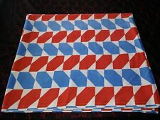 Vintage Red, White and Blue Flat Sheet With Cool Mod Design