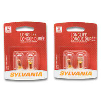 Sylvania Long Life 168LL Light Bulb Side Marker Tail License Map ru 2 Pack