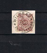 Wurttemburg 1890 Freimarke 59 schon gebraucht Wildbad im Wurtt. auf Briefstuck