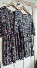 Allegra K Pair of Boho Patterned Print Dresses Black Size Large UK 14 16
