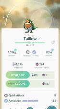 Pokémon Go Shiny Pokemon Taillow Rare Super Fire Sale Hard Find Great Value