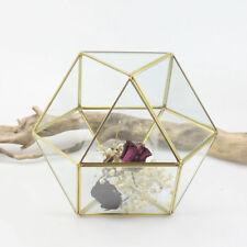 Geometric Metal Glass Succulent Plant Planter Vase Wedding Decor Terrarium
