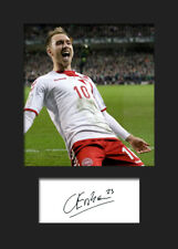 Christian Eriksen #3 - Denmark Signed Photo A5 Mounted Print - FREE DELIVERY