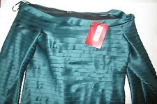 NWT JS COLLECTIONS Ribbon Blouse, SZ 16, Top, Shirt, Long Sleeve, Green, Womens