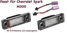 2x TOP LED SMD Kennzeichenbeleuchtung Chevrolet Spark M300 /2201/