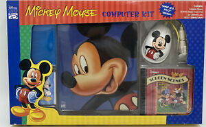 Vintage 1990's Mickey Mouse NEW Computer Mouse & Mouse Pad Combo PS/2 or Serial