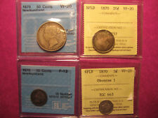 Extremely Rare 1870 Newfoundland coin set