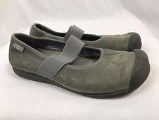 KEEN Gray Leather Mary Jane Sneaker, Women's Size 8.5