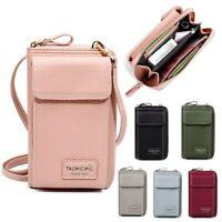 Women leather Clutch Crossbody Shoulder Bag Card Holder Phone Handbag
