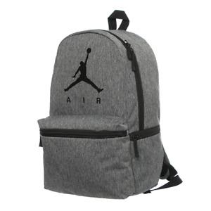 NIKE AIR JORDAN Jumpman Logo Heather Gray Large Backpack Laptop Storage NWT