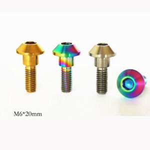 M6 *20mm 10pcs Grade 5 Titanium alloy Motorcycle Brake Disc Mount Screw Bolts