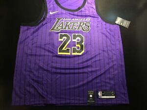 New Nike Los Angeles Lakers LeBron James City Edition Swingman Jersey Sz 60 3XL