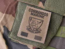 SNAKE PATCH - COMMANDOS MARINE - FRANCE FORCES SPECIALES - COS format OD KAKI