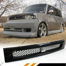 FOR 04-07 SCION XB GLOSSY BLK JDM FRONT HOOD MESH GRILL + CHROME BB LOGO EMBLEM