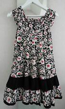 Robe d 'été Eliane et Lena noir rose blanc dress new 12 ans neuve + bandeau neuf