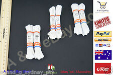 6X Pair White Shoe Laces Bootlaces Shoe laces Strings Clearance Sales