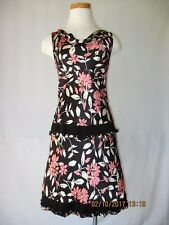 Moschino Couture 2-Piece Silk Charmeuse Cocktail Dress Size 40 / 4 Excellent!