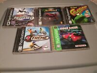 Lot of 5 PlayStation 1 PS1 Games Pro BMX Frogger Ridge Racer 3Xtreme JetMoto 2