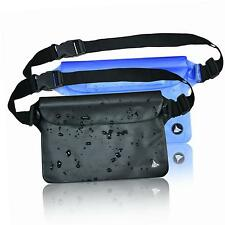 (2 Pack) Elite Waterproof Pouch Dry Bag Case with Waist/Shoulder Strap