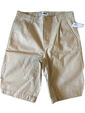 New Big Boy Old Navy School Uniform Tan Shorts size 14 Boy Shorts