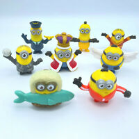 McDonald's Minions Happy Meal Toys Lot of 8 Figures