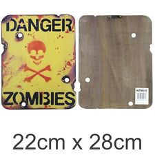 Military Wooden Wall Sign Bombsite Sniper Keep out Mines Kids Army Den Bedroom Danger Zombies