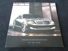2007 Mercedes Benz S-class Catalog W221 S65 AMG S550 S600 V12 Sales Brochure 550
