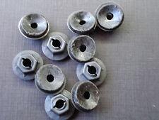 "10 pcs 3/16"" GM GMC emblem name plate script black thread cutting nuts & sealer"